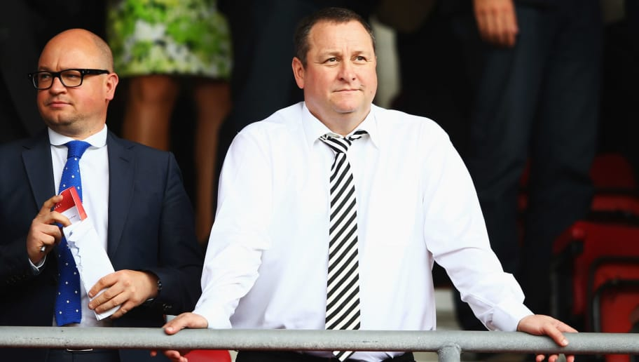 SOUTHAMPTON, ENGLAND - SEPTEMBER 13:  Newcastle United owner Mike Ashley looks on prior to the Barclays Premier League match between Southampton and Newcastle United at St Mary's Stadium on September 13, 2014 in Southampton, England.  (Photo by Richard Heathcote/Getty Images)