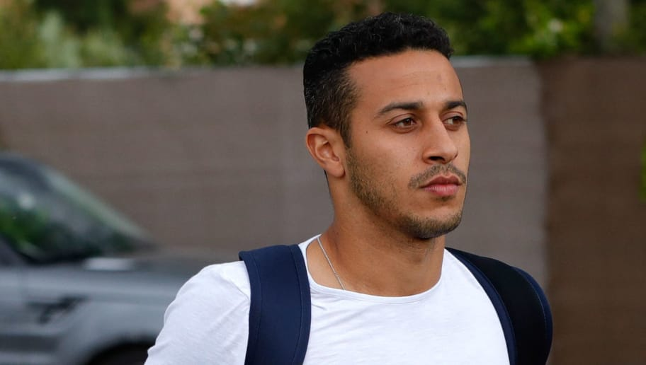 MADRID, SPAIN - MAY 28: Thiago Alcantara of Spain arrives prior to a training session on May 28, 2018 in Madrid, Spain. (Photo by TF-Images/Getty Images)