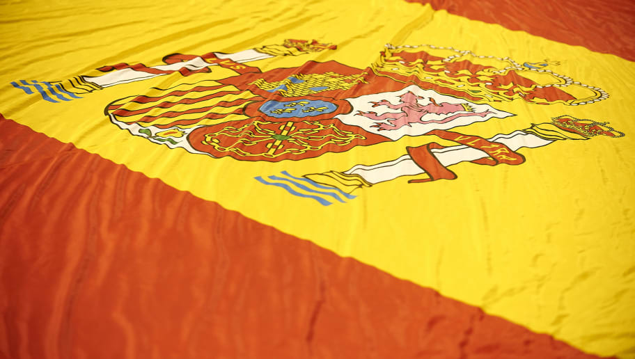 ALICANTE, SPAIN - OCTOBER 06:  The Spain flag is seen prior to the FIFA 2018 World Cup Qualifier between Spain and Albania at Rico Perez Stadium on October 6, 2017 in Alicante, Spain.  (Photo by Manuel Queimadelos Alonso/Getty Images)