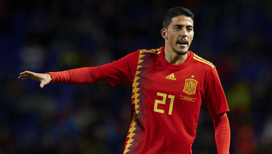 LAS PALMAS DE GRAN CANARIA, SPAIN - NOVEMBER 18:  Pablo Fornals of Spain reacts during the international friendly match between Spain and Bosnia & Herzegovina at Estadio de Gran Canaria on November 18, 2018 in Las Palmas de Gran Canaria, Spain.  (Photo by Quality Sport Images/Getty Images)