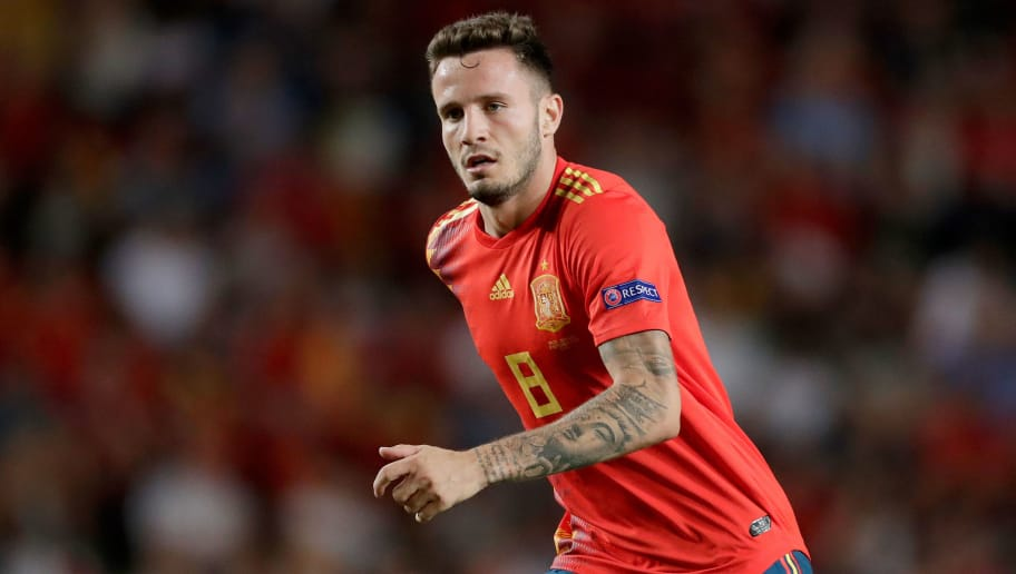 ELCHE, SPAIN - SEPTEMBER 11: Saul Niguez of Spain during the  UEFA Nations league match between Spain  v Croatia  at the Estadio Manuel Martínez Valero on September 11, 2018 in Elche Spain (Photo by Laurens Lindhout/Soccrates/Getty Images)