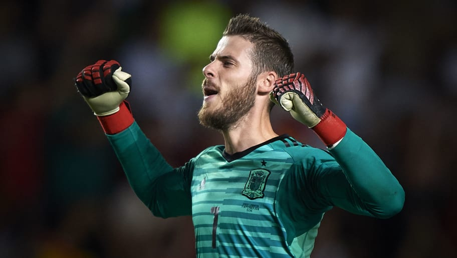 ALICANTE, SPAIN - SEPTEMBER 11:  David De Gea of Spain celebrates his team goal during the UEFA Nations League A group four match between Spain and Croatia at Estadio Manuel Martinez Valero on September 11, 2018 in Alicante, Spain.  (Photo by Quality Sport Images/Getty Images)