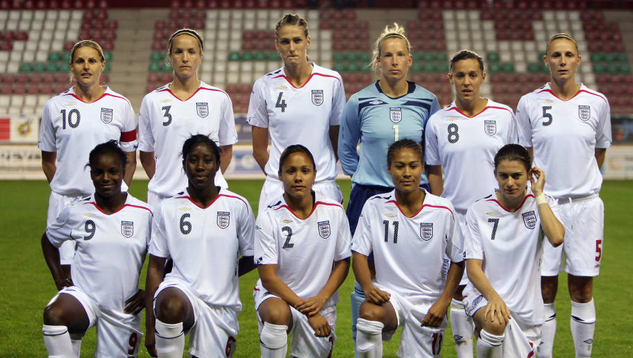 Lindsay Johnson,Kelly Smith,Jill Scott,Casey Stoney,Anita Asante,Eniola Aluko,Rachel Yankey,Alex Scott,Fara Willams,Karen Carney,Rachel Brown