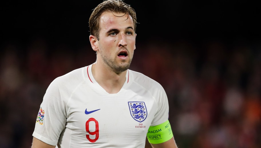 SEVILLA, SPAIN - OCTOBER 15: Harry Kane of England during the  UEFA Nations league match between Spain  v England  at the Estadio Benito Villamarin on October 15, 2018 in Sevilla Spain (Photo by David S. Bustamante/Soccrates/Getty Images)