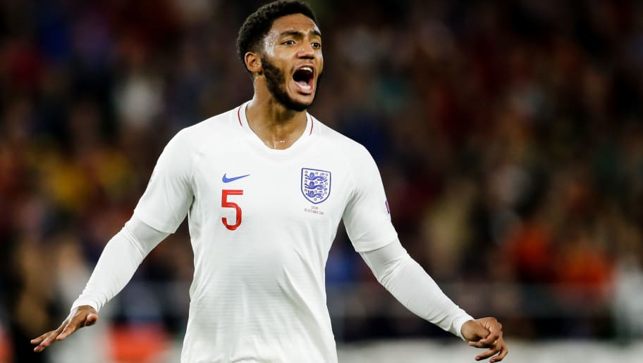 SEVILLA, SPAIN - OCTOBER 15: Joe Gomez of England during the  UEFA Nations league match between Spain  v England  at the Estadio Benito Villamarin on October 15, 2018 in Sevilla Spain (Photo by Eric Verhoeven/Soccrates/Getty Images)
