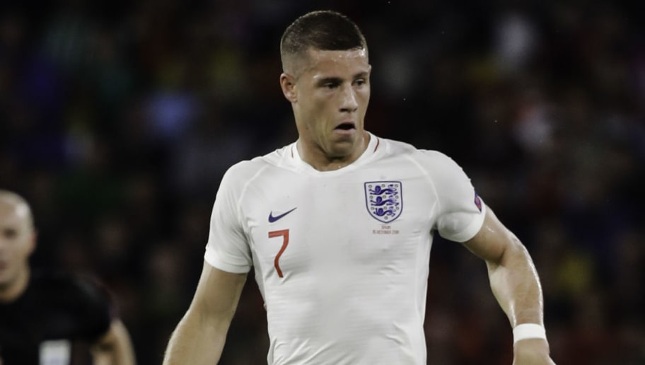 SEVILLA, SPAIN - OCTOBER 15: Ross Barkley of England during the  UEFA Nations league match between Spain  v England  at the Estadio Benito Villamarin on October 15, 2018 in Sevilla Spain (Photo by David S. Bustamante/Soccrates/Getty Images)