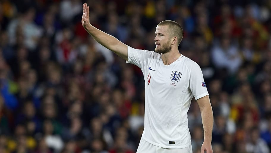 SEVILLE, SPAIN - OCTOBER 15:  Eric Dier of England reacts during the UEFA Nations League A group four match between Spain and England at Estadio Benito Villamarin on October 15, 2018 in Seville, Spain.  (Photo by Quality Sport Images/Getty Images)