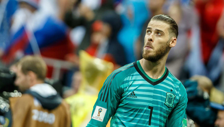 MOSCOW, RUSSIA - JULY 01: Goalkeeper David de Gea of Spain looks on during the 2018 FIFA World Cup Russia match between Spain and Russia at Luzhniki Stadium on July 01, 2018 in Moscow, Russia. (Photo by TF-Images/Getty Images)