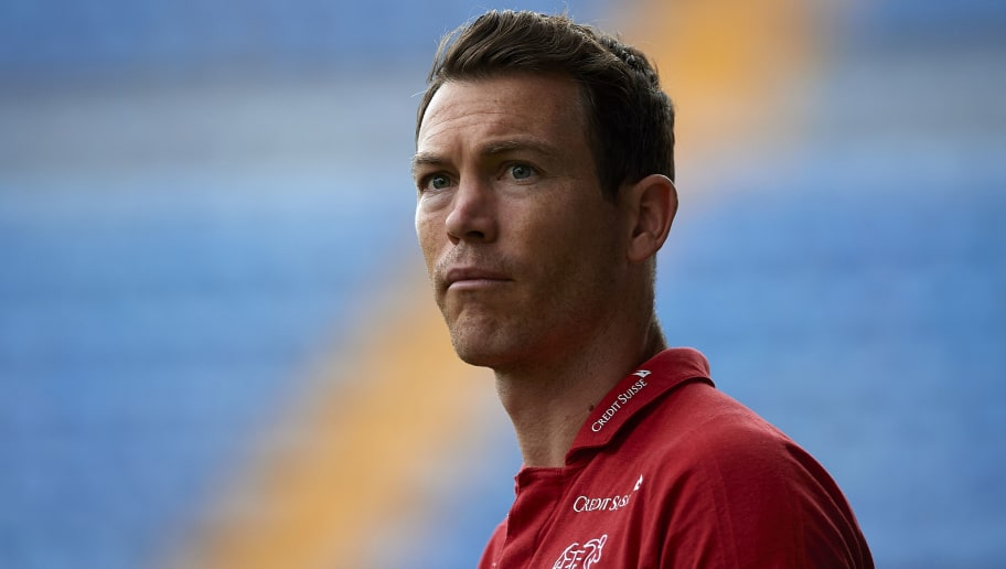 VILLAREAL, SPAIN - JUNE 03:  Stephan Lichtsteiner of Switzerland looks on prior to the International Friendly match between Spain and Switzerland at Estadio de La Ceramica on June 3, 2018 in Villareal, Spain.  (Photo by Manuel Queimadelos Alonso/Getty Images)