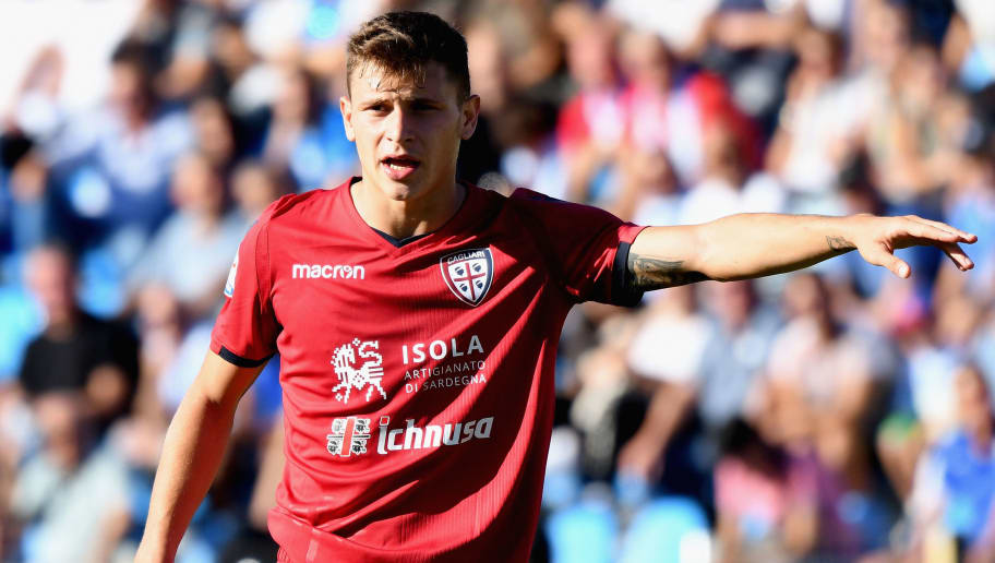 FERRARA, ITALY - SEPTEMBER 17: Nicolo Barella of Cagliari Calcio in action during the Serie A match between Spal and Cagliari Calcio at Stadio Paolo Mazza on September 17, 2017 in Ferrara, Italy.  (Photo by Getty Images/Getty Images)