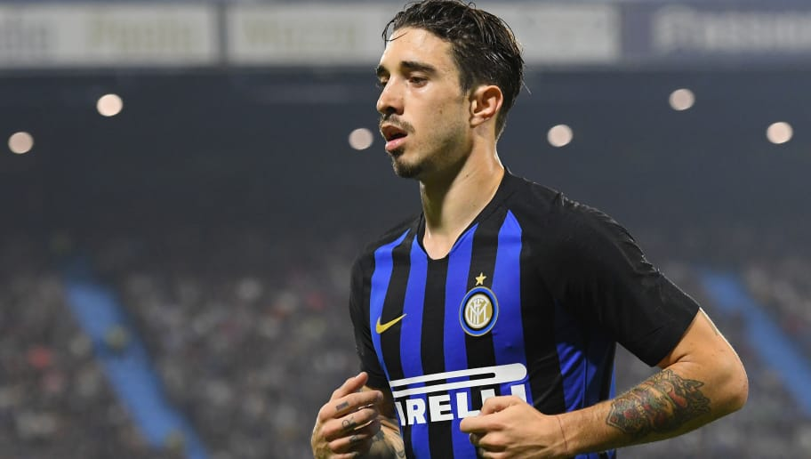 FERRARA, ITALY - OCTOBER 07:  Sime Vrsaljko of  FC Internazionale looks on during the Serie A match between SPAL and FC Internazionale at Stadio Paolo Mazza on October 7, 2018 in Ferrara, Italy.  (Photo by Alessandro Sabattini/Getty Images)