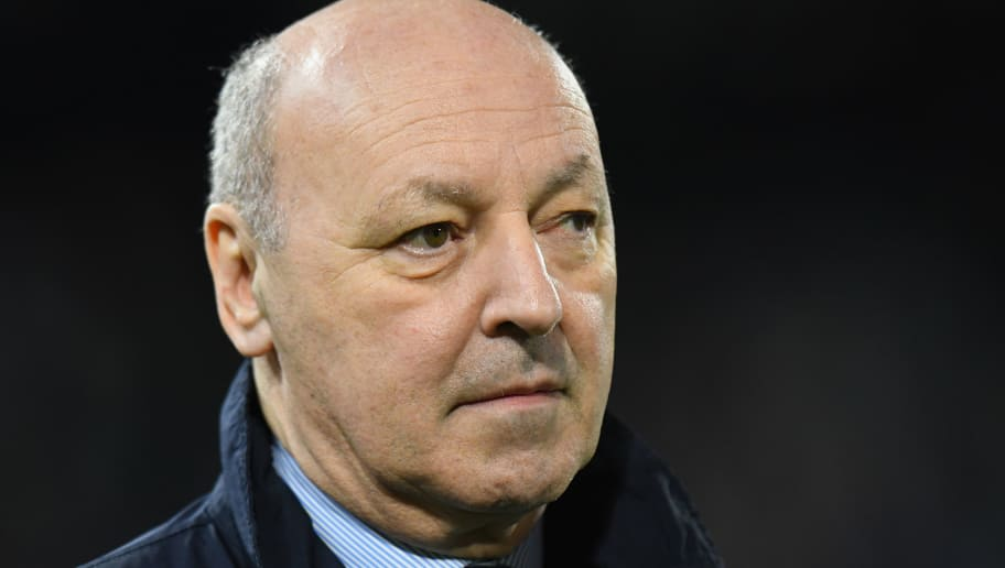 FERRARA, ITALY - MARCH 17:  CEO of Juventus Giuseppe Marotta  looks on before the serie A match between Spal and Juventus at Stadio Paolo Mazza on March 17, 2018 in Ferrara, Italy.  (Photo by Alessandro Sabattini/Getty Images)