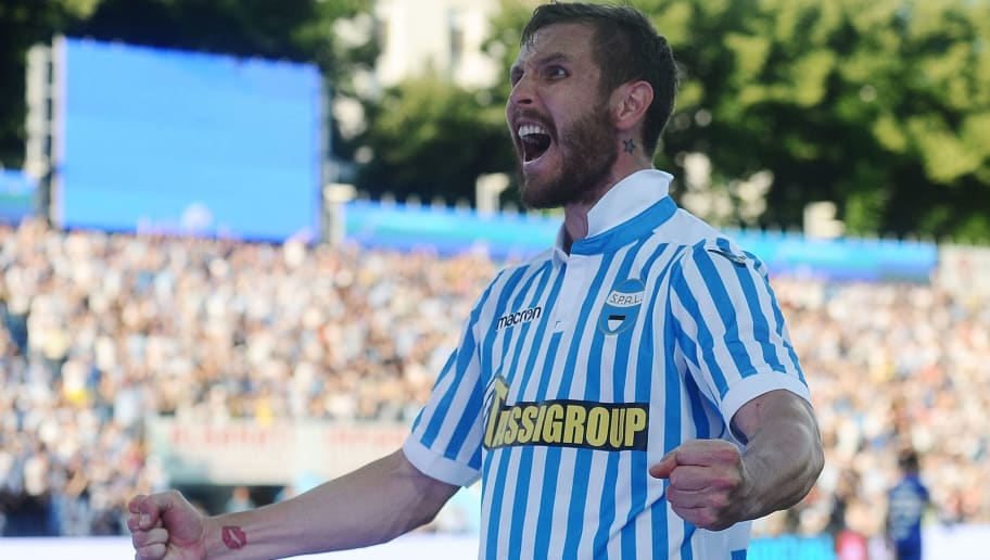 FERRARA, ITALY - MAY 20:  Jasmin Kurtic of Spal celebrates after  his team's third goal during the Serie A match between Spal and UC Sampdoria at Stadio Paolo Mazza on May 20, 2018 in Ferrara, Italy.  (Photo by Mario Carlini / Iguana Press/Getty Images)