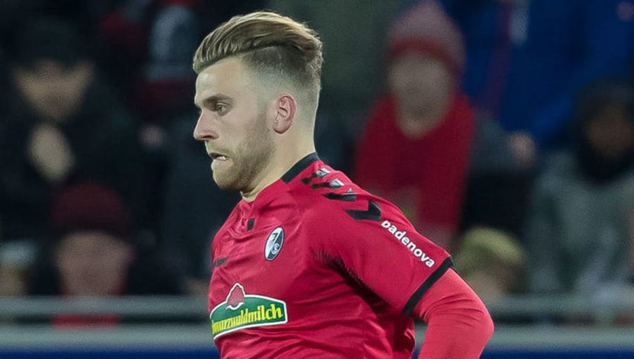 FREIBURG IM BREISGAU, GERMANY - MARCH 04: Lucas Hoeler of Freiburg controls the ball during the Bundesliga match between Sport-Club Freiburg and FC Bayern Muenchen at Schwarzwald-Stadion on March 4, 2018 in Freiburg im Breisgau, Germany. (Photo by TF-Images/TF-Images via Getty Images)