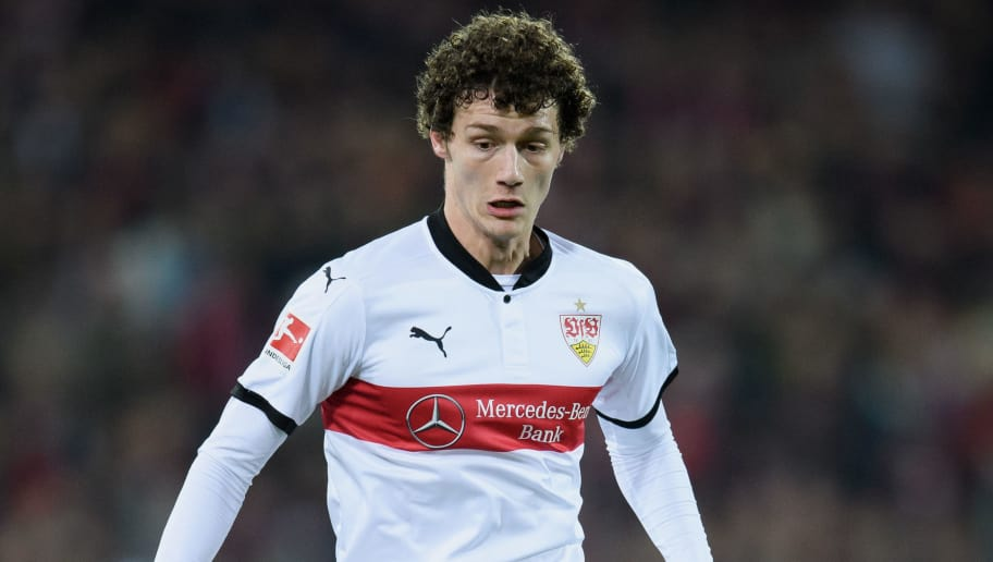 FREIBURG IM BREISGAU, GERMANY - MARCH 16: Benjamin Pavard of Stuttgart controls the ball during the Bundesliga match between Sport-Club Freiburg and VfB Stuttgart at Schwarzwald-Stadion on March 16, 2018 in Freiburg im Breisgau, Germany. (Photo by Matthias Hangst/Bongarts/Getty Images)
