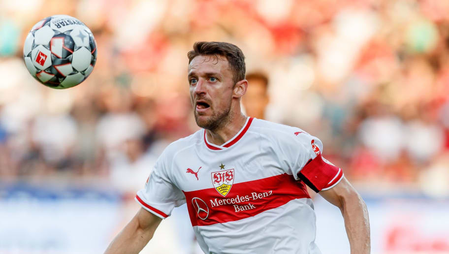 FREIBURG, GERMANY - SEPTEMBER 16: Christian Gentner of VfB Stuttgart controls the ball during the Bundesliga match between Sport-Club Freiburg and VfB Stuttgart on September 16, 2018 in Freiburg, Germany. (Photo by TF-Images/Getty Images)