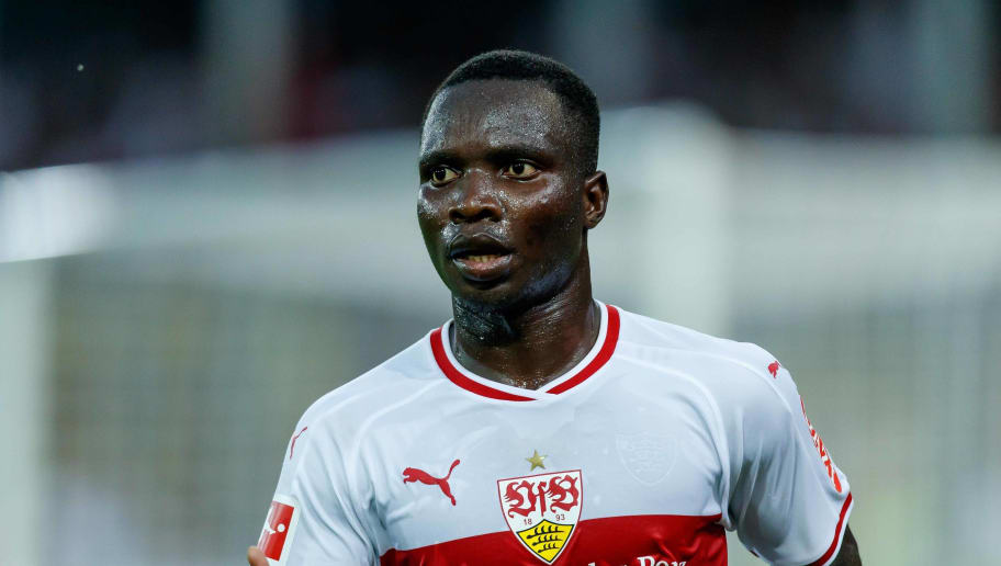 FREIBURG, GERMANY - SEPTEMBER 16: Chadrac Akolo Ababa of VfB Stuttgart looks on during the Bundesliga match between Sport-Club Freiburg and VfB Stuttgart on September 16, 2018 in Freiburg, Germany. (Photo by TF-Images/Getty Images)