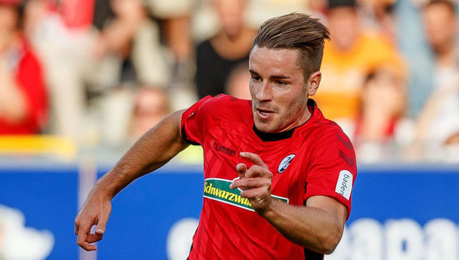 FREIBURG, GERMANY - SEPTEMBER 16: Christian Guenter of Sport-Club Freiburg controls the ball during the Bundesliga match between Sport-Club Freiburg and VfB Stuttgart on September 16, 2018 in Freiburg, Germany. (Photo by TF-Images/Getty Images)
