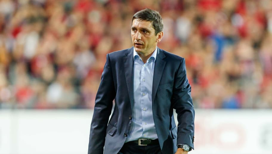 FREIBURG, GERMANY - SEPTEMBER 16: Head coach Tayfun Korkut of VfB Stuttgart looks on during the Bundesliga match between Sport-Club Freiburg and VfB Stuttgart on September 16, 2018 in Freiburg, Germany. (Photo by TF-Images/Getty Images)