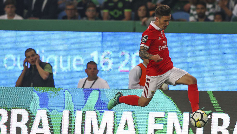 LISBON, PORTUGAL - MAY 05: SL Benfica defender Alejandro Grimaldo from Spain during the Portuguese Primeira Liga match between Sporting CP and SL Benfica at Estadio Jose Alvalade on May 05, 2018 in Lisbon, Lisboa. (Photo by Carlos Rodrigues/Getty Images)