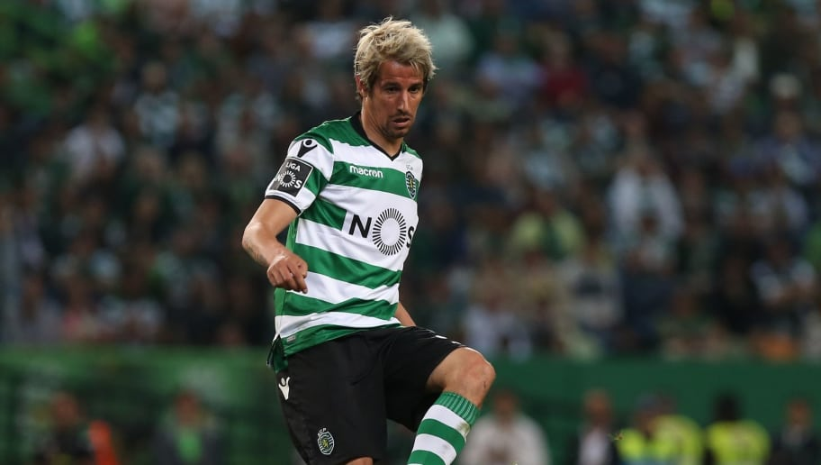 LISBON, PORTUGAL - MAY 5: Sporting CP defender Fabio Coentrao from Portugal in action during the Primeira Liga match between Sporting CP and SL Benfica at Estadio Jose Alvalade on May 5, 2018 in Lisbon, Portugal.  (Photo by Gualter Fatia/Getty Images)