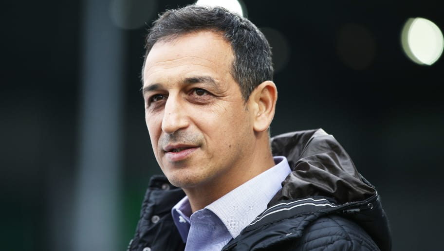 FUERTH, GERMANY - NOVEMBER 26:  Rachid Azzouzi Sporting Director of SpVgg Greuther Fuerth during the Second Bundesliga match between SpVgg Greuther Fuerth and FC St. Pauli at Sportpark Ronhof Thomas Sommer on November 26, 2017 in Fuerth, Germany.  (Photo by Adam Pretty/Bongarts/Getty Images)