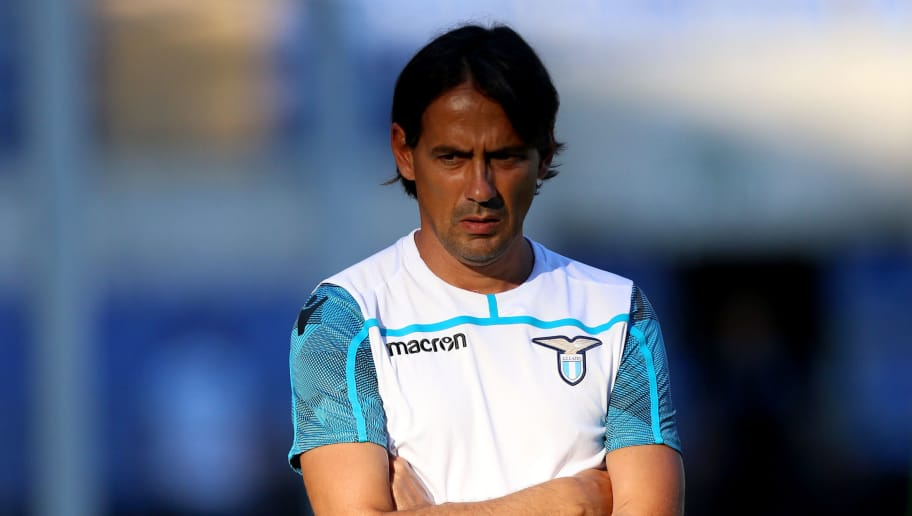 ROME, ITALY - AUGUST 17:  SS Lazio head coach Simone Inzaghi  SS Lazio training session at Olimpico Stadium on August 17, 2018 in Rome, Italy.  (Photo by Paolo Bruno/Getty Images)
