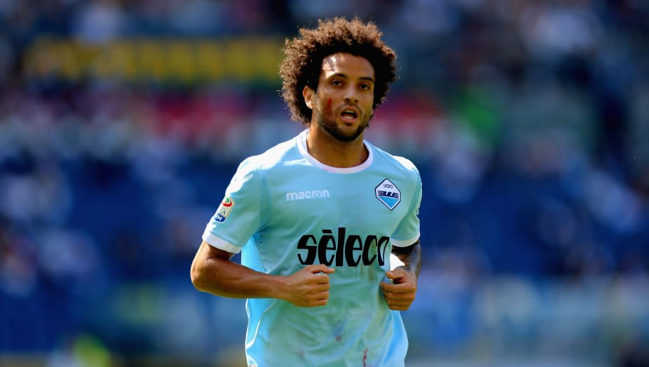 ROME, ITALY - APRIL 22:  Felipe Anderson of SS Lazio looks on during the serie A match between SS Lazio and UC Sampdoria at Stadio Olimpico on April 22, 2018 in Rome, Italy.  (Photo by Paolo Bruno/Getty Images)