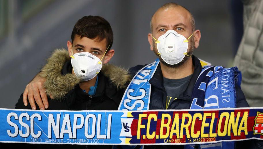 SSC Napoli v FC Barcelona - UEFA Champions League Round of 16: First Leg
