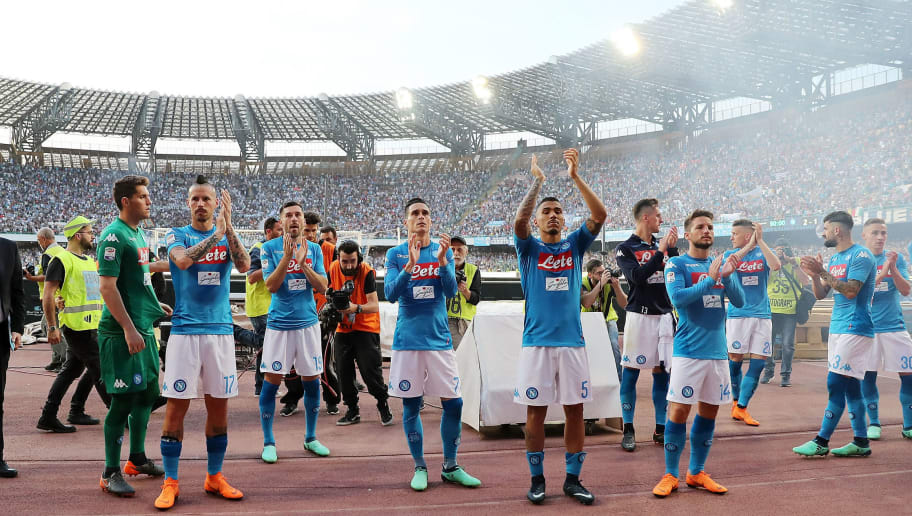 f4c64eb501d SSC Napoli Officially Release  Kombat  Home Kit Ahead Of 2018 19 Serie A  Season