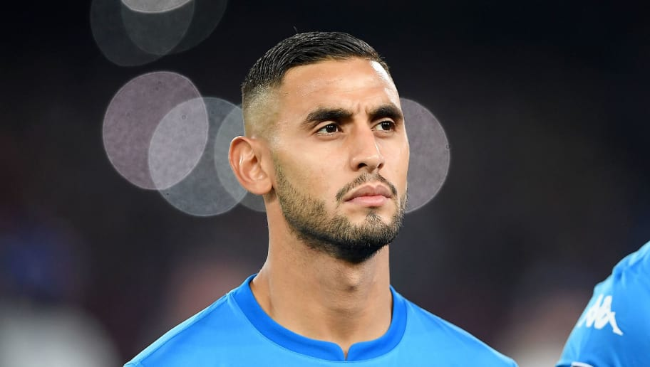NAPLES, ITALY - NOVEMBER 01: Faouzi Ghoulam of SSC Napoli line up before the UEFA Champions League group F match between SSC Napoli and Manchester City at Stadio San Paolo on November 1, 2017 in Naples, Italy.  (Photo by Francesco Pecoraro/Getty Images)
