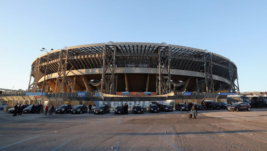 NAPLES, ITALY - NOVEMBER 01:  A general view of stadium before the UEFA Champions League group F match between SSC Napoli and Manchester City at Stadio San Paolo on November 1, 2017 in Naples, Italy.  (Photo by Maurizio Lagana/Getty Images)