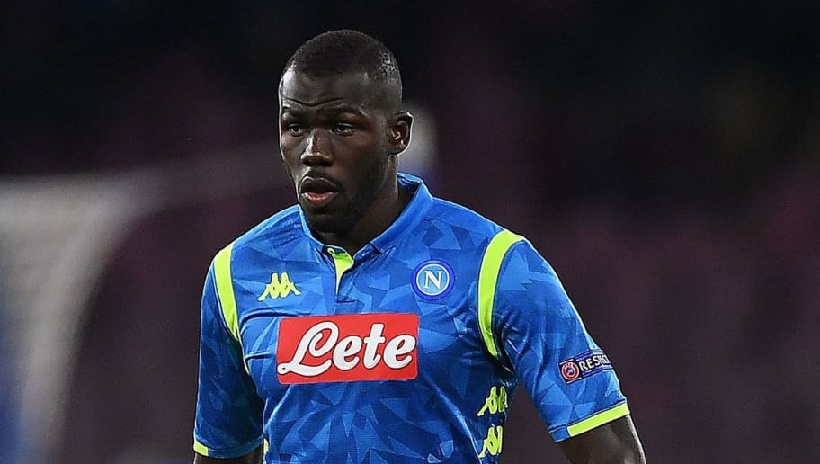 NAPLES, ITALY - NOVEMBER 28:  Kalidou Koulibaly of SSC Napoli in action during the Group C match of the UEFA Champions League between SSC Napoli and Red Star Belgrade at Stadio San Paolo on November 28, 2018 in Naples, Italy.  (Photo by Francesco Pecoraro/Getty Images)