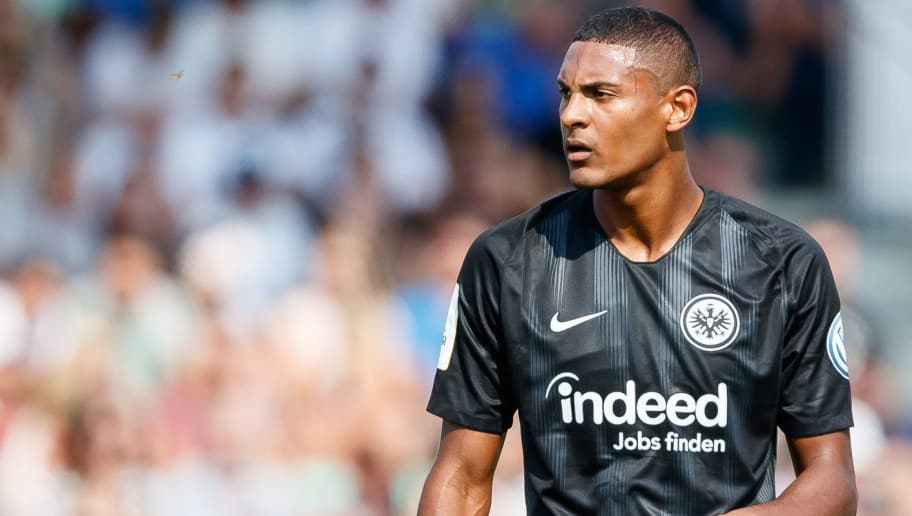 ULM, GERMANY - AUGUST 18: Sebastien Haller of Eintracht Frankfurt looks on during the DFB Cup first round match between SSV Ulm 1846 Fussball and Eintracht Frankfurt at Donaustadion on August 18, 2018 in Ulm, Germany. (Photo by TF-Images/Getty Images)