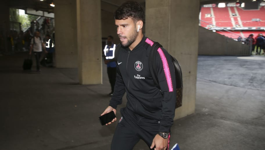 RENNES, FRANCE - SEPTEMBER 23: Juan Bernat of PSG leaves the stadium following the french Ligue 1 match between Stade Rennais FC (Rennes) and Paris Saint Germain (PSG) at Roazhon Park on September 23, 2018 in Rennes, France. (Photo by Jean Catuffe/Getty Images)