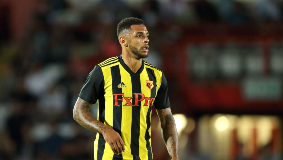 STEVENAGE, ENGLAND - JULY 27: Andre Gray of Watford during the Pre-Season Friendly between Stevenage v Watford at The Lamex Stadium on July 27, 2018 in Stevenage, England. (Photo by James Williamson - AMA/Getty Images)