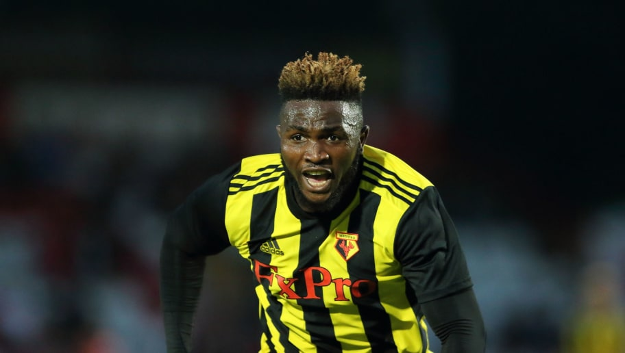 STEVENAGE, ENGLAND - JULY 27: Isaac Success of Watford during the Pre-Season Friendly between Stevenage v Watford at The Lamex Stadium on July 27, 2018 in Stevenage, England. (Photo by James Williamson - AMA/Getty Images)