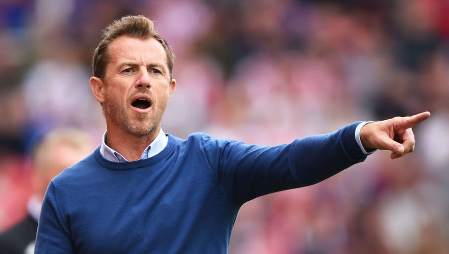 STOKE ON TRENT, ENGLAND - AUGUST 11: Gary Rowett manager of Stoke City gives his team  instructions during the Sky Bet Championship match between Stoke City and Brentford at Bet365 Stadium on August 11, 2018 in Stoke on Trent, England. (Photo by Nathan Stirk/Getty Images)