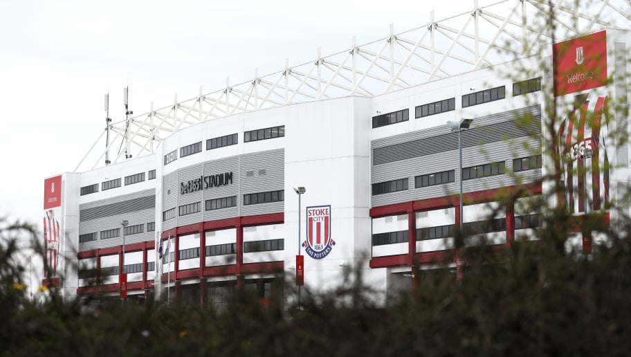 STOKE ON TRENT, ENGLAND - APRIL 22: General view outside the stadium prior to the Premier League match between Stoke City and Burnley at Bet365 Stadium on April 22, 2018 in Stoke on Trent, England.  (Photo by Matthew Lewis/Getty Images)