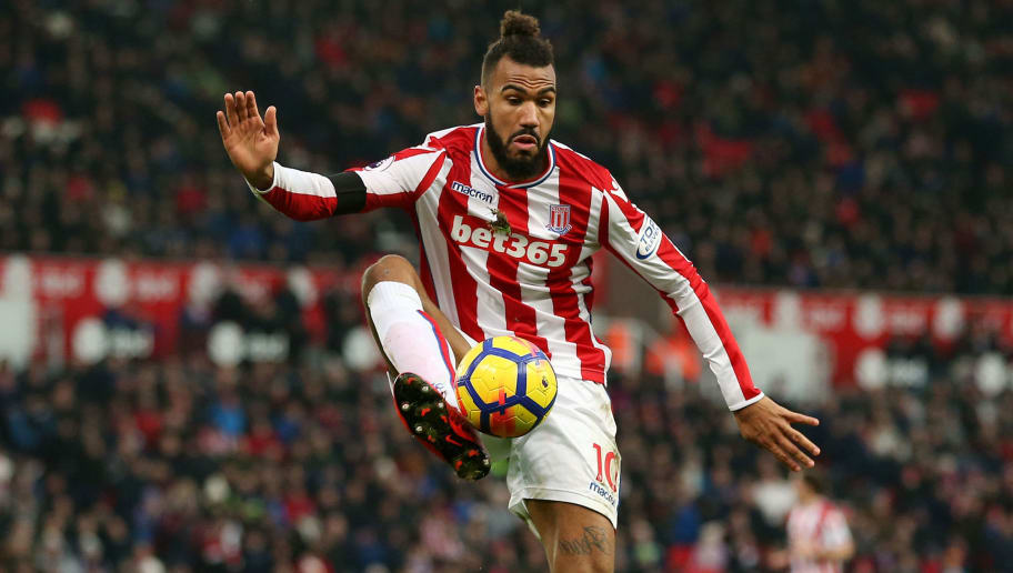 STOKE ON TRENT, ENGLAND - JANUARY 20: Eric Maxim Choupo-Moting of Stoke City during the Premier League match between Stoke City and Huddersfield Town at Bet365 Stadium on January 20, 2018 in Stoke on Trent, England. (Photo by James Baylis - AMA/Getty Images)