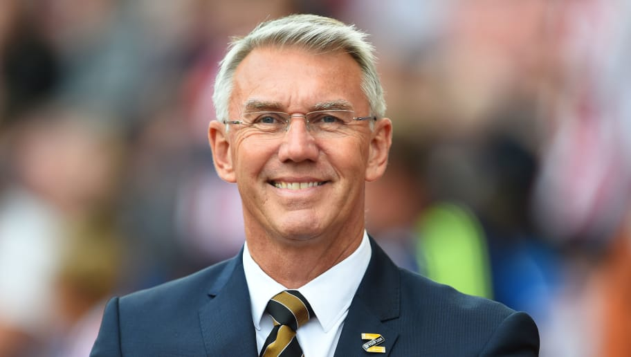 STOKE ON TRENT, ENGLAND - AUGUST 25: Nigel Adkins, manager of Hull City looks on during the Sky Bet Championship match between Stoke City and Hull City at Bet365 Stadium on August 25, 2018 in Stoke on Trent, England. (Photo by Nathan Stirk/Getty Images)
