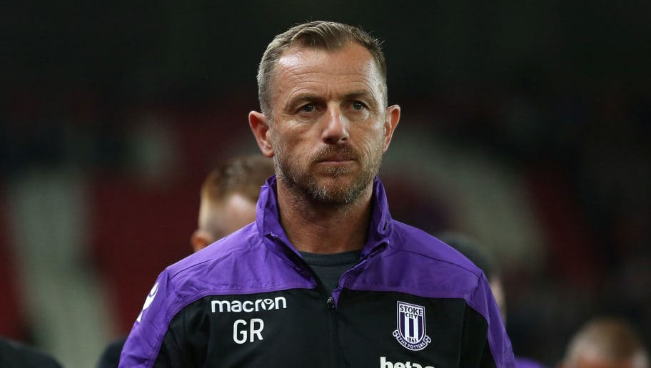 STOKE ON TRENT, ENGLAND - AUGUST 22: Gary Rowett the head coach / manager of Stoke City during the Sky Bet Championship match between Stoke City and Wigan Athletic at Bet365 Stadium on August 22, 2018 in Stoke on Trent, England. (Photo by James Baylis - AMA/Getty Images)