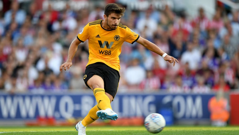 STOKE ON TRENT, ENGLAND - JULY 25: Ruben Neves of Wolverhampton Wanderers during the Pre-Season Friendly match between Stoke City v Wolverhampton Wanderers at Bet365 Stadium on July 25, 2018 in Stoke on Trent, England. (Photo by Sam Bagnall - AMA/Getty Images)