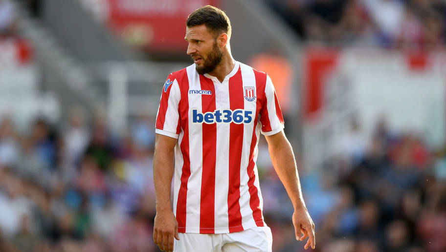 STOKE ON TRENT, ENGLAND - JULY 25: Erik Pieters of Stoke City during the Pre-Season Friendly match between Stoke City v Wolverhampton Wanderers at Bet365 Stadium on July 25, 2018 in Stoke on Trent, England. (Photo by Sam Bagnall - AMA/Getty Images)