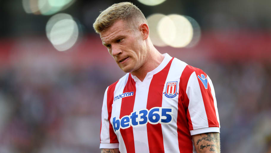 STOKE ON TRENT, ENGLAND - JULY 25: James McClean of Stoke City during the Pre-Season Friendly match between Stoke City v Wolverhampton Wanderers at Bet365 Stadium on July 25, 2018 in Stoke on Trent, England. (Photo by Sam Bagnall - AMA/Getty Images)