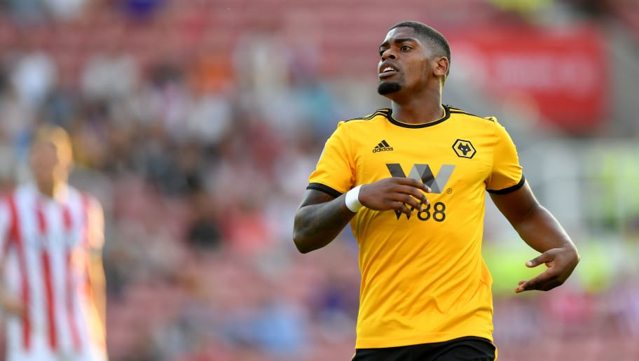 STOKE ON TRENT, ENGLAND - JULY 25: Ivan Cavaleiro of Wolverhampton Wanderers during the Pre-Season Friendly match between Stoke City v Wolverhampton Wanderers at Bet365 Stadium on July 25, 2018 in Stoke on Trent, England. (Photo by Sam Bagnall - AMA/Getty Images)