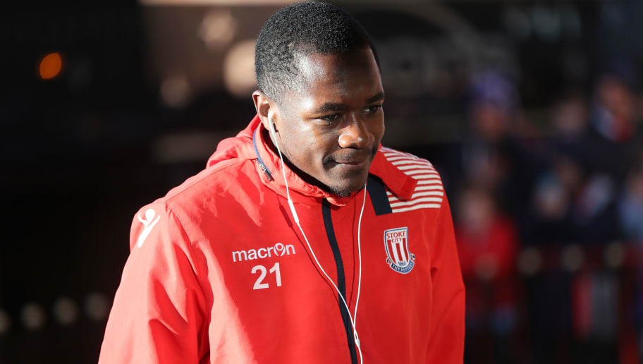 SUNDERLAND, ENGLAND - JANUARY 14:  Gianelli Imbula of Stoke City arrives prior to the Premier League match between Sunderland and Stoke City at Stadium of Light on January 14, 2017 in Sunderland, England.  (Photo by Ian MacNicol/Getty Images)