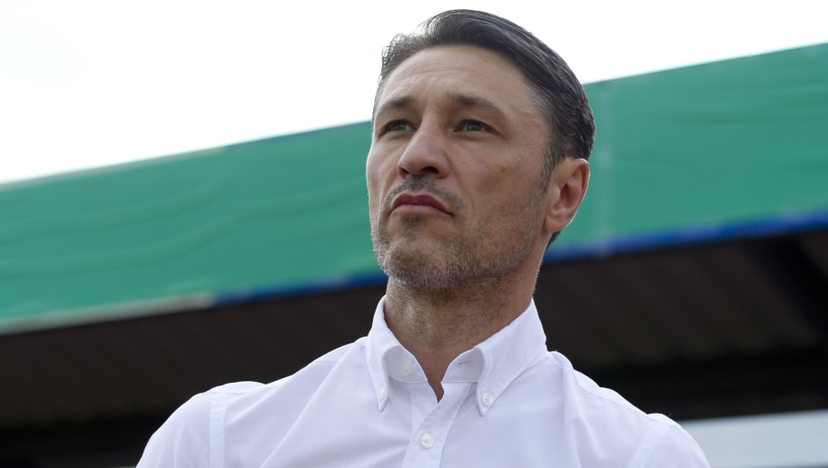 DROCHTERSEN, GERMANY - AUGUST 18: Head coach Niko Kovac of Bayern Muenchen looks on prior to the DFB Cup first round match between SV Drochtersen-Assel and Bayern Muenchen at Kehdinger Stadion on August 18, 2018 in Drochtersen, Germany. (Photo by TF-Images/Getty Images)