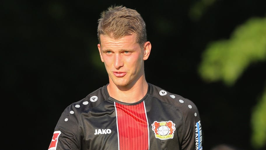 BREITSCHEID; GERMANY - JULY 18: Lars Bender of Leverkusen gestures during the friendly match between SV Rossbach/Verscheid and Bayer 04 Leverkusen on July 18, 2018 in Breitscheid, Germany. (Photo by TF-Images/Getty Images)