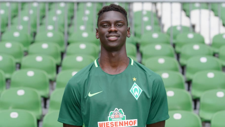BREMEN, GERMANY - JULY 07: Idrissa Toure of Werder Bremen II poses during the official team presentation of Werder Bremen II at Weserstadion on July 7, 2017 in Bremen, Germany. (Photo by Carmen Frisch/Bongarts/Getty Images)